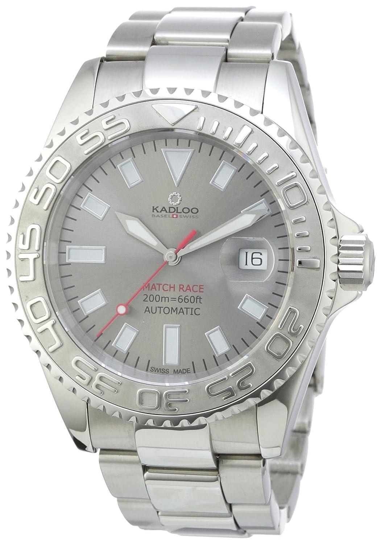 Kadloo Herren-Armbanduhr XL Match Race Analog Automatik Edelstahl 80830-GR