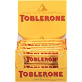 Toblerone Swiss Milk Chocolate with Honey & Almond Nougat, 1.23 Ounce Bar, Pack of 24