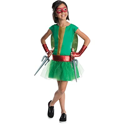 Rubie's Teenage Mutant Ninja Turtles Deluxe Child's Raphael Costume Tutu Dress, Small: Toys & Games