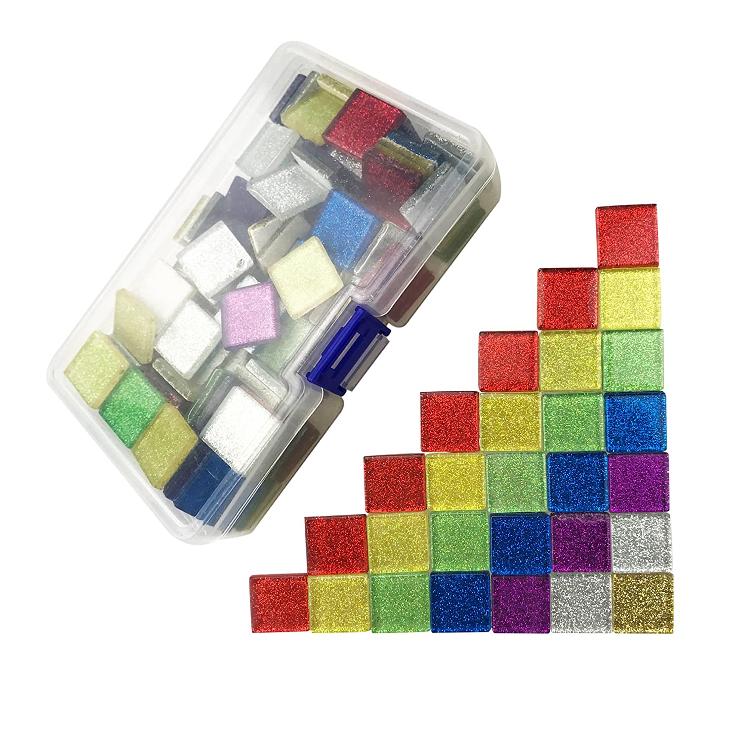 600 Gram Mosaic Tiles Bulk Glass Glitter Mosaic Pieces For Diy Arts Crafts Home Decoration Mixed Color 2cm 2cm By Cspring