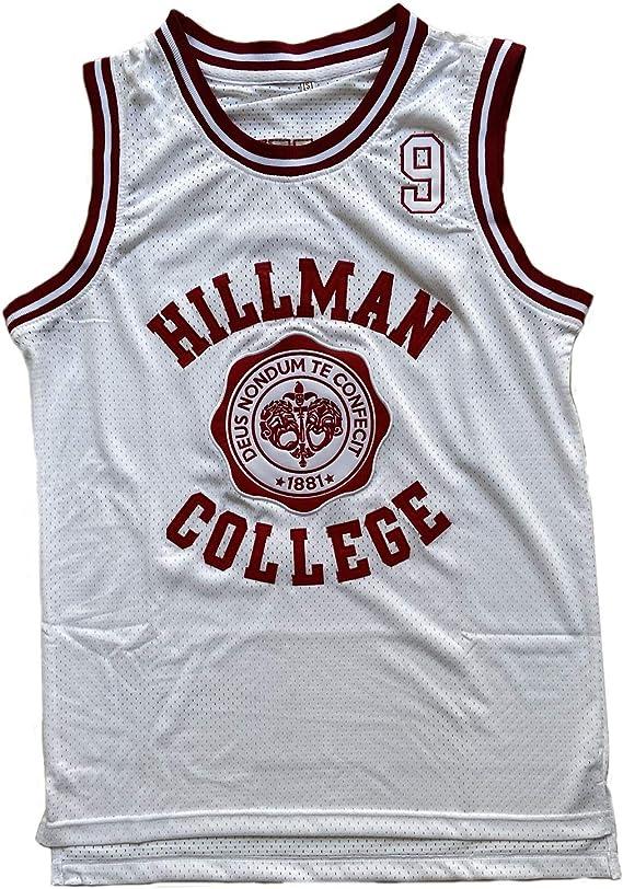 PHM Men 9 Wayne Hillman College Theater Movie Basketball Jersey Stitched S-XXXL