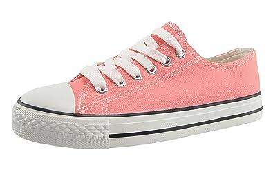 best authentic 2c1d4 ad8ed CAPRIUM Sportliche Sneaker Turnschuhe Klassische Low Top Schuhe Metallic  Flach, Damen 0006018