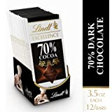 Lindt 瑞士莲 Excellence 黑巧克力,3.5 盎司(约 99.2 克)套装(12 支装)