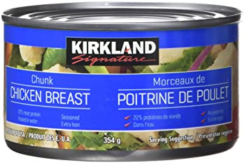 Kirkland Signature chicken breast, packed in water, premium chunk, 12.5 oz.