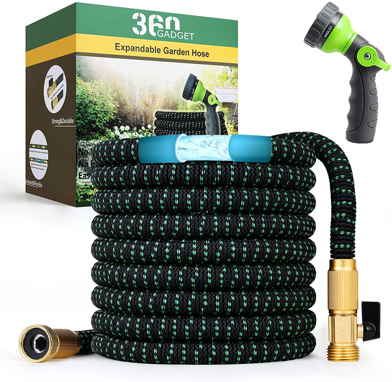 360Gadget Expandable and Flexible Garden Hose 50 ft Water Hose with 3/4
