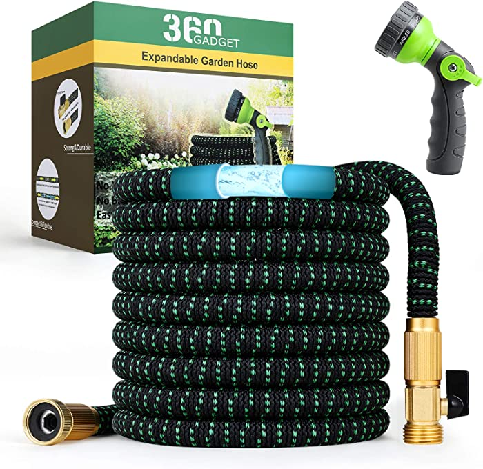 360Gadget Expandable and Flexible Garden Hose 75 ft Water Hose with 3/4