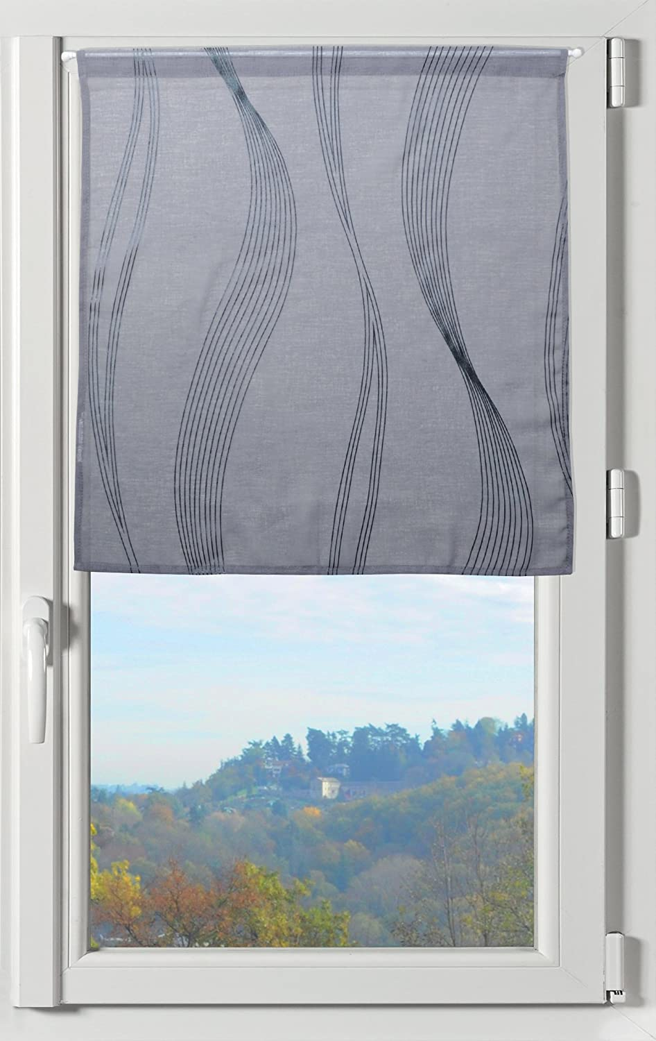 Soleil docre Lucile Brise bise Blanc Polyester 60 x 90 cm Voile