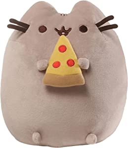 GUND Pusheen Snackables Pizza Plush Stuffed Animal Cat, 9.5""
