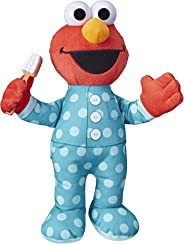 Sesame Street Brushy Brush Elmo 12-inch Plush, Sings The Brushy Brush Song, Toy for Kids Ages 18 Months and Up