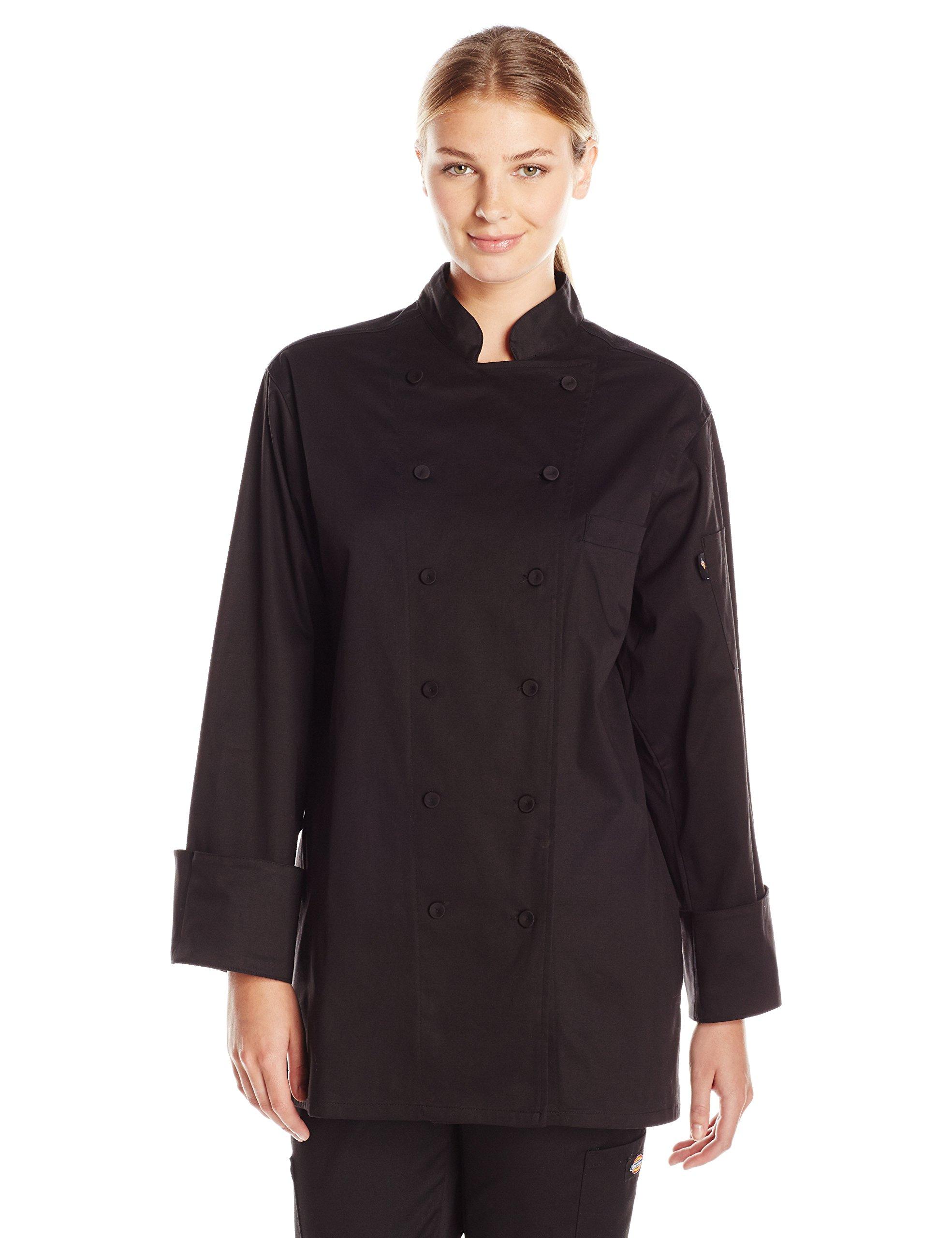 Dickies Chef Women's Executive Coat, Black, X-Large