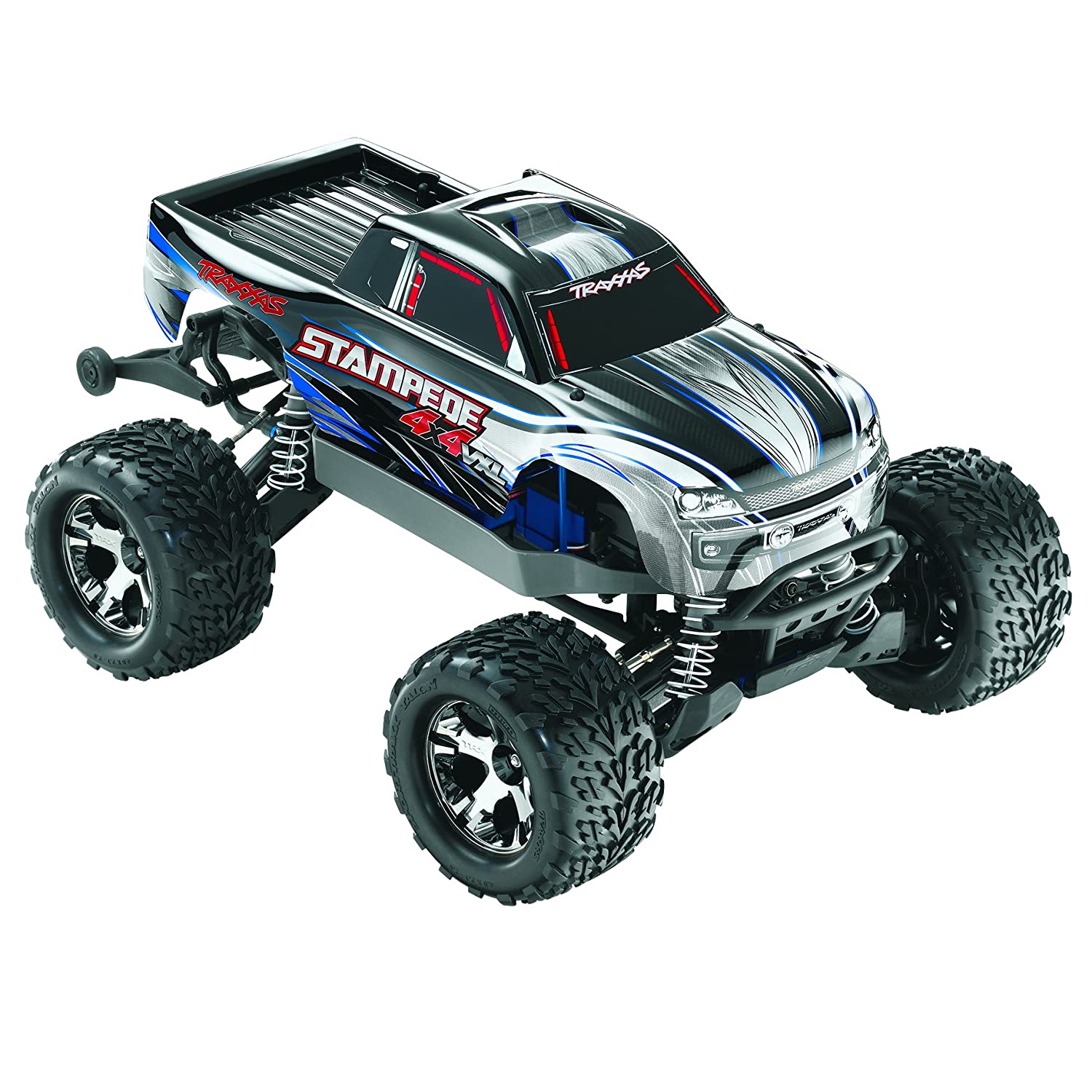 Amazon Traxxas Stampede 4X4 VXL 1 10 Monster Truck RTR with 2 4GHz Radio 3000mAh Battery & 4 Amp Peak DC Charger Toys & Games