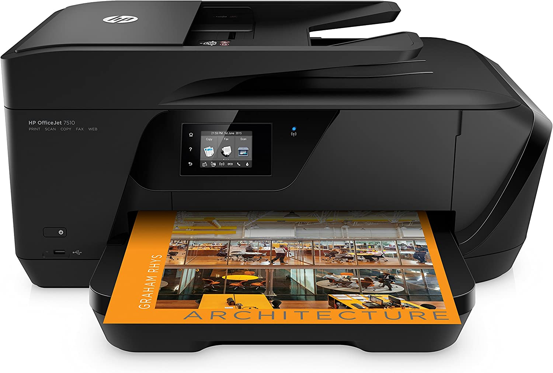 Hp Officejet 7510 A3 Multifunktionsdrucker Schwarz Computer Zubehör