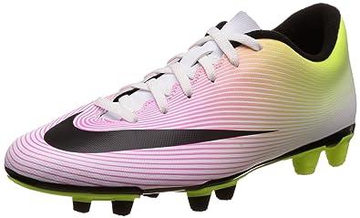 New Nike Mens Mercurial Vortex II FG Soccer Cleat White/Volt/Orange