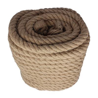 Twisted Manila Rope Jute Rope 100 Feet Natural Jute Twine Hemp Rope 1 Inch Diameter Twine Burlap Rope