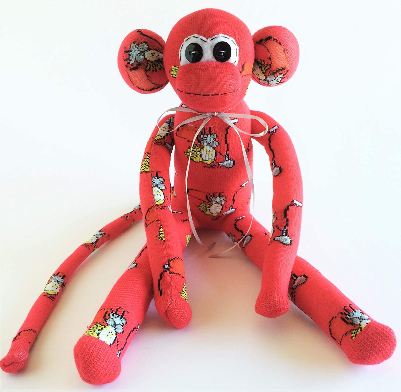 Thor Themed Sock Monkey Super Hero Sock Monkey Red Sock Monkey Sock Monkey Super Hero Avengers Thor Plush Ragnarok