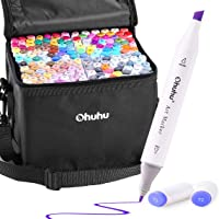 Ohuhu Alcohol Art Markers, Double Tipped Alcohol-Based Marker Set for Kids Adults Coloring Book Sketch Illustration, 160…