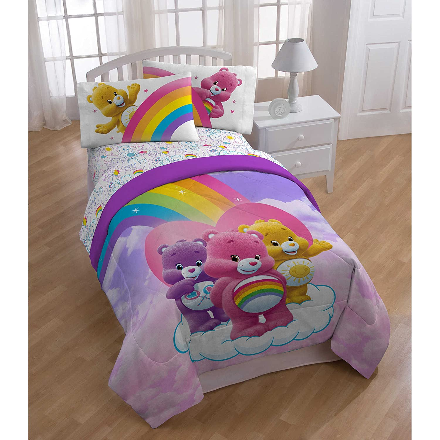 Care Bears Twin / Full Comforter w/ Plush Reverse by American Greeting Jay Franco