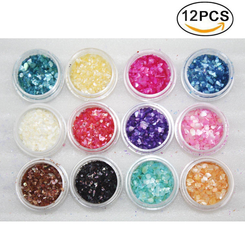 purpurina para uñas de colores