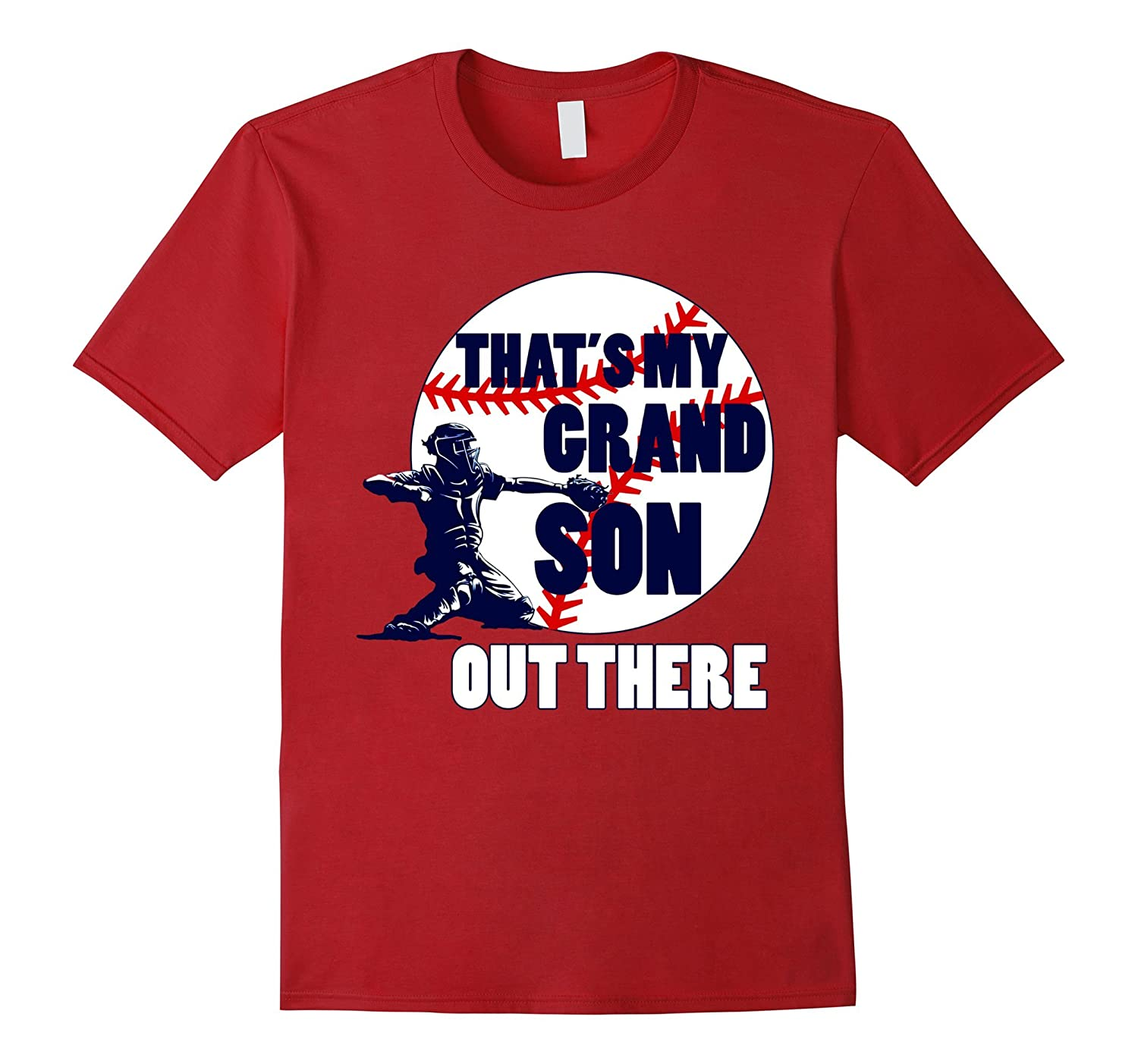 ORIGINAL That's My GRANDSON Out There Baseball Tshirt