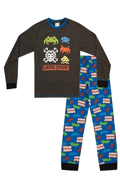 Pijama largo para niños con mensaje: «Game Over», inspirado
