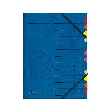 Herlitz 5001128 - Archivador de cartón A4 con índice del 1-12 y de la A a la Z 355 g/m2: Amazon.es: Oficina y papelería