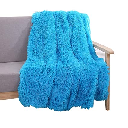 91c1ef519c9a Amazon.com  YOUSA Super Soft Long Shaggy Fuzzy Fur Faux Fur Warm ...