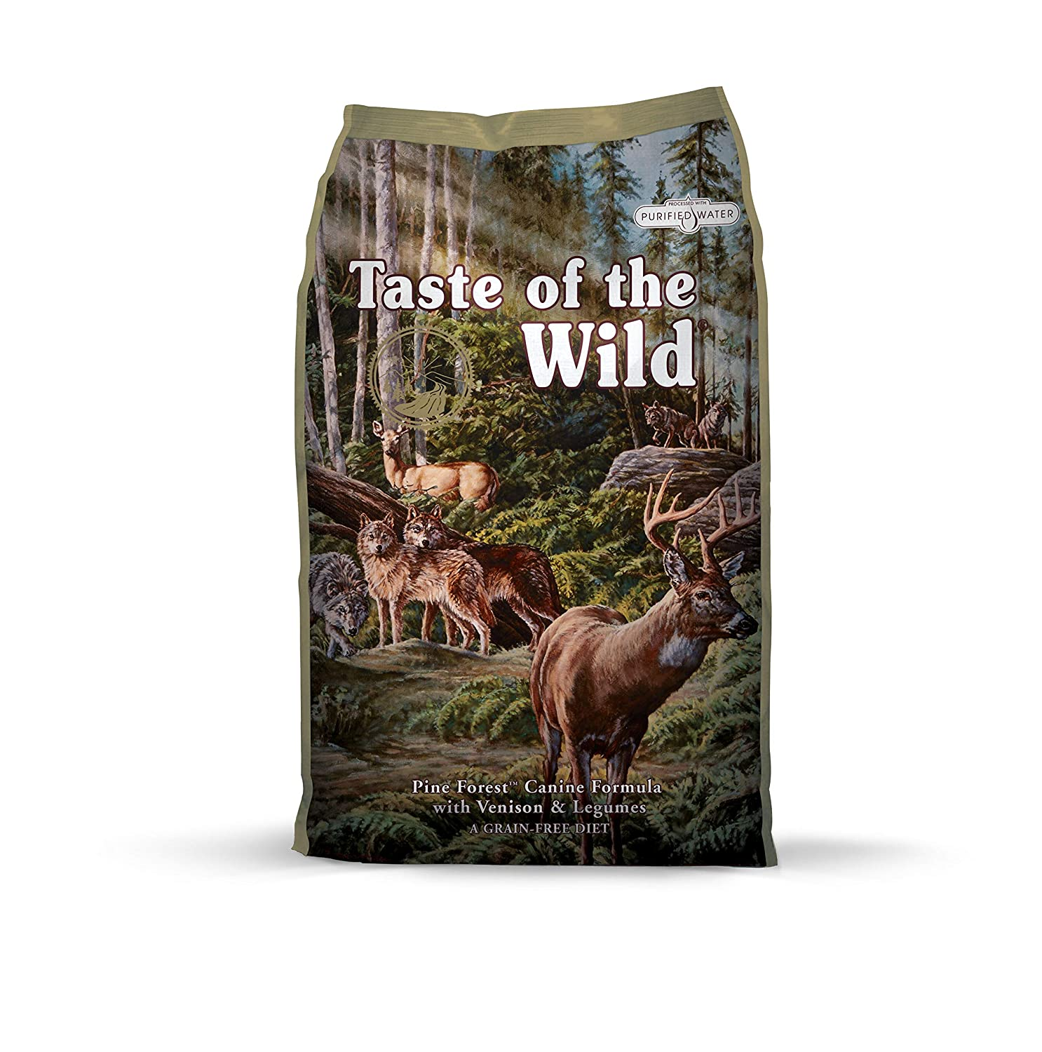 13 kg Taste of the Wild Complete Dry Pine Forest with Venison and Legumes Dog Food, 13 kg