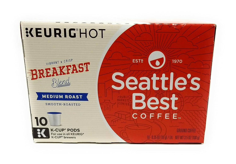 Seattle's Best, Single Serve K-Cup Coffee, 3.5oz Box (Pack of 3) (Choose Flavors Below) (Breakfast Blend)
