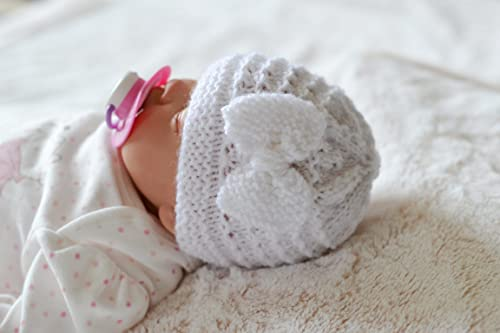 PREMATURE /& NEWBORN  HAND KNITTED HATS FOR RE-BORN  DOLL OR BABY