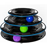 Amazing Cat Roller Toy By Easyology Pets: Super Fun 3-Level Tower Ball & Track Toy Endless Interactive Play & Mental Physical Exercise For Kittens Heavy Duty Lightweight Construction