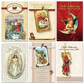 Hochwertige Weihnachtskarten.30 Grußkarten Hochwertige Weihnachtskarten Weihnachten Nostalgie