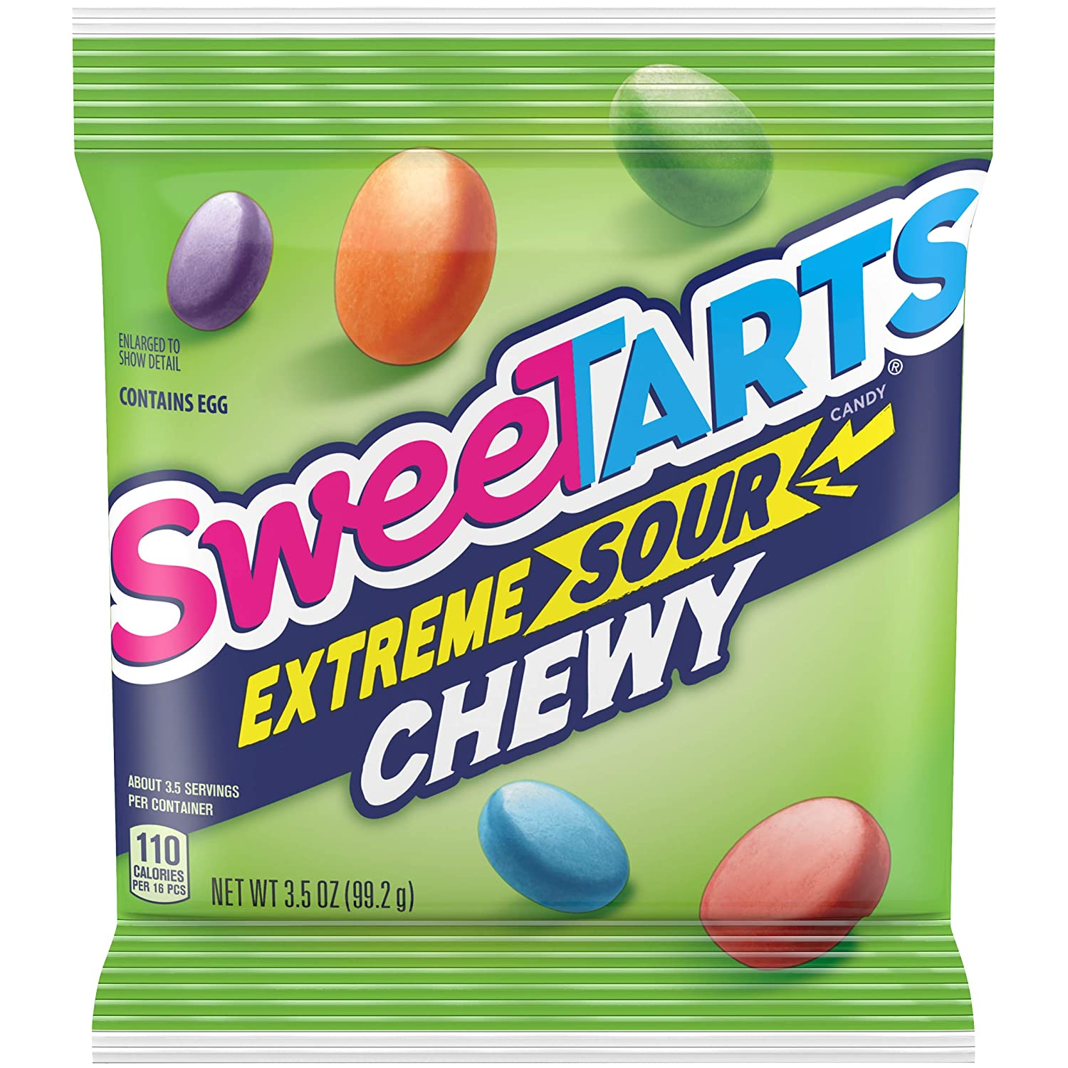 SweeTARTS Extreme Sour Chewy, 3.5 Ounce, Pack of 12 : Grocery & Gourmet Food