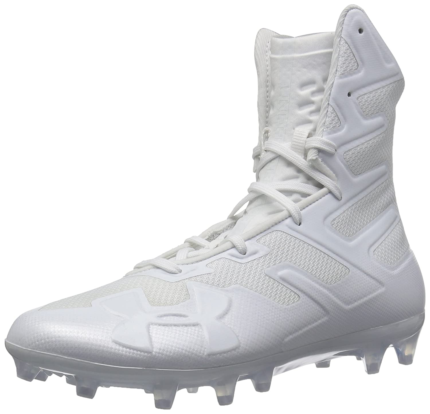 [アンダーアーマー] Men's Highlight Mc High-Top Mesh Football Shoe B077VQZ5CH White (100)/White 10 M US 10 M US|White (100)/White