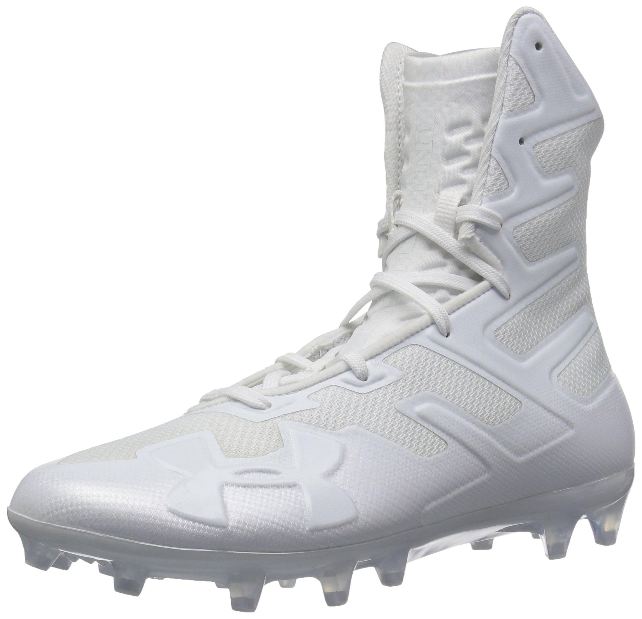 13 3000177 002 /White Black Under Armour Mens Highlight MC Football Shoe