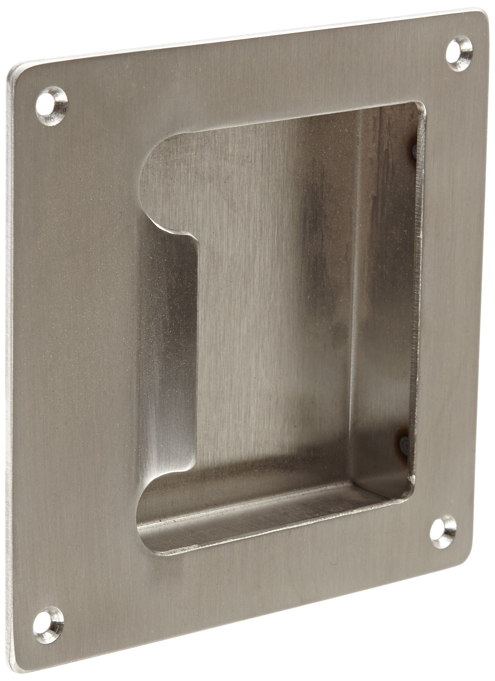 Rockwood BF97.32D Stainless Steel Barrier Free Flush Pull, Sheet Metal Screw Fasteners, 5'' Width x 5'' Height x 7/8'' Depth, Satin Finish by Rockwood