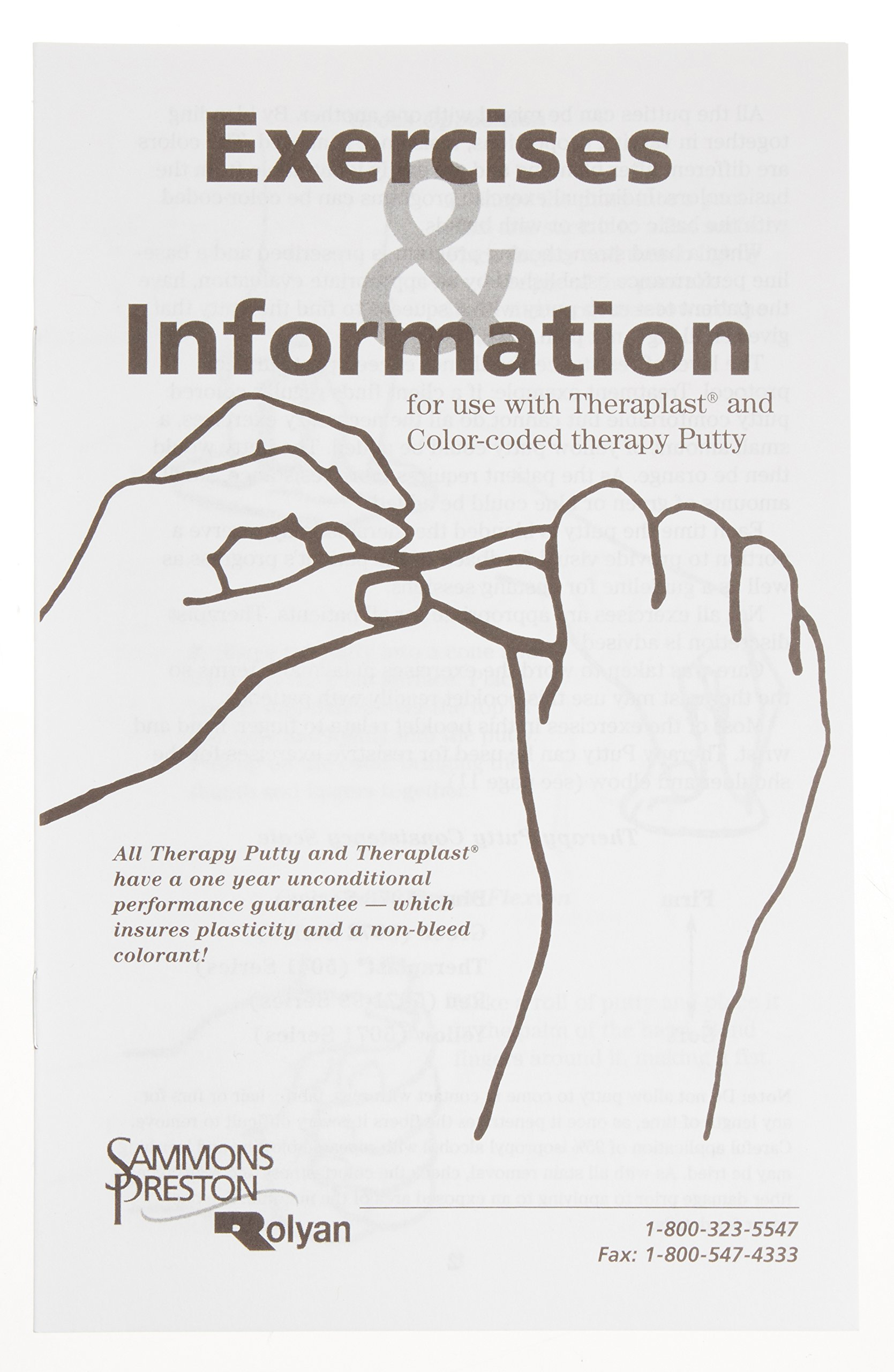 Therapy Putty Hand Exercise Book, 12 Page Booklet with Hand and Wrist Exercises for at-Home Physical and Occupational Therapy, Grip Strength Training, Surgery and Injury Recovery, Pack of 20