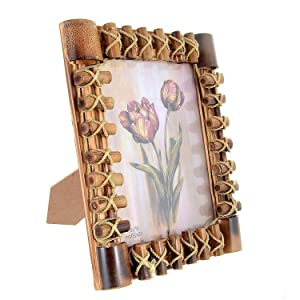 "JaipurCrafts Premium Designer Table Photo Frame (6""x 8"" inches Photo Size, Antique Finish)"