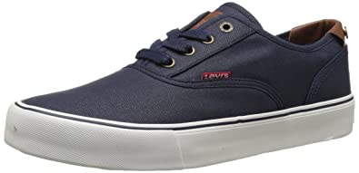Levi's Men's Rob CT Canvas Fashion Navy Sneakers Shoes - Blue