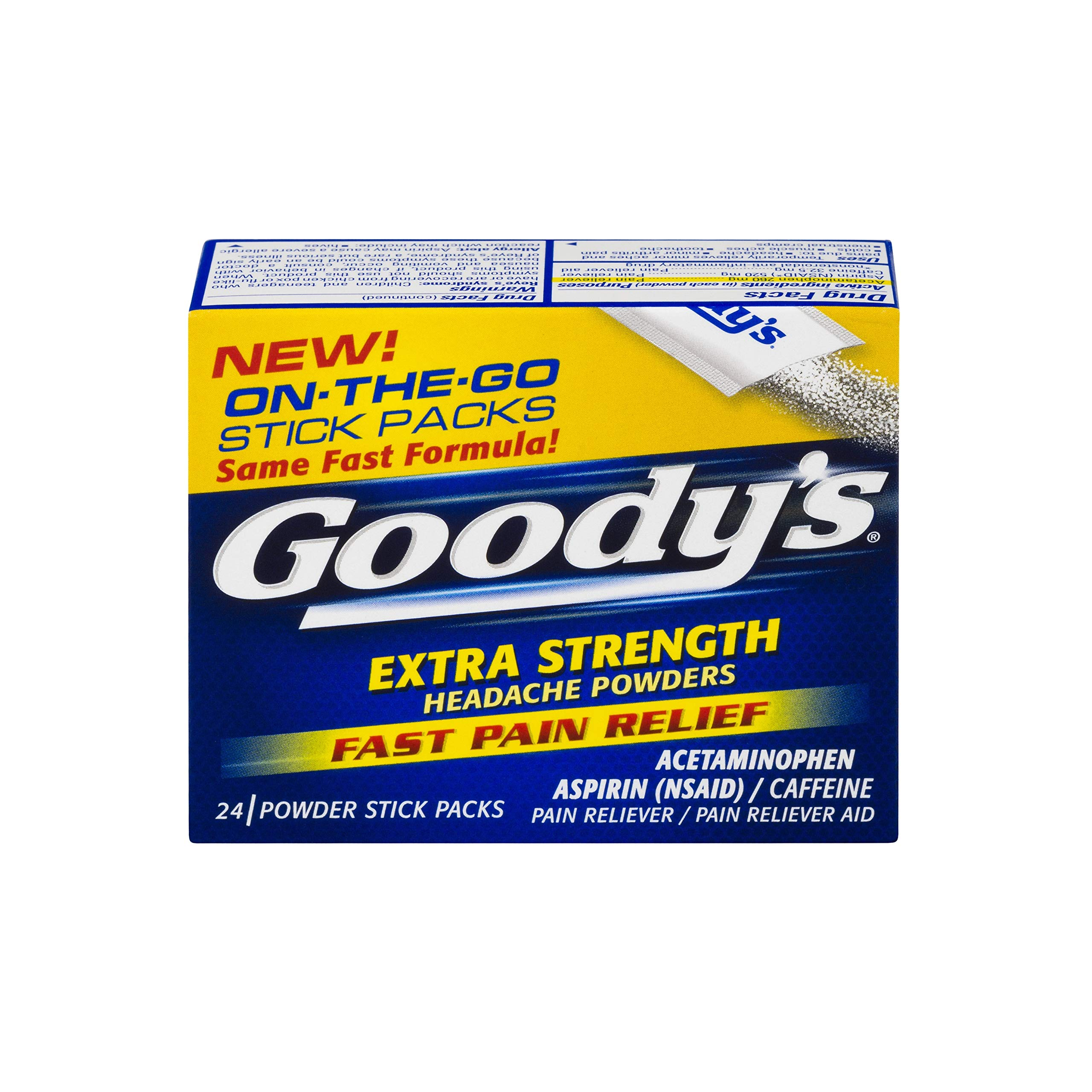 Goody's Headache Powders, Extra Strength, 50-Count Boxes (Pack of 4) by Goody's