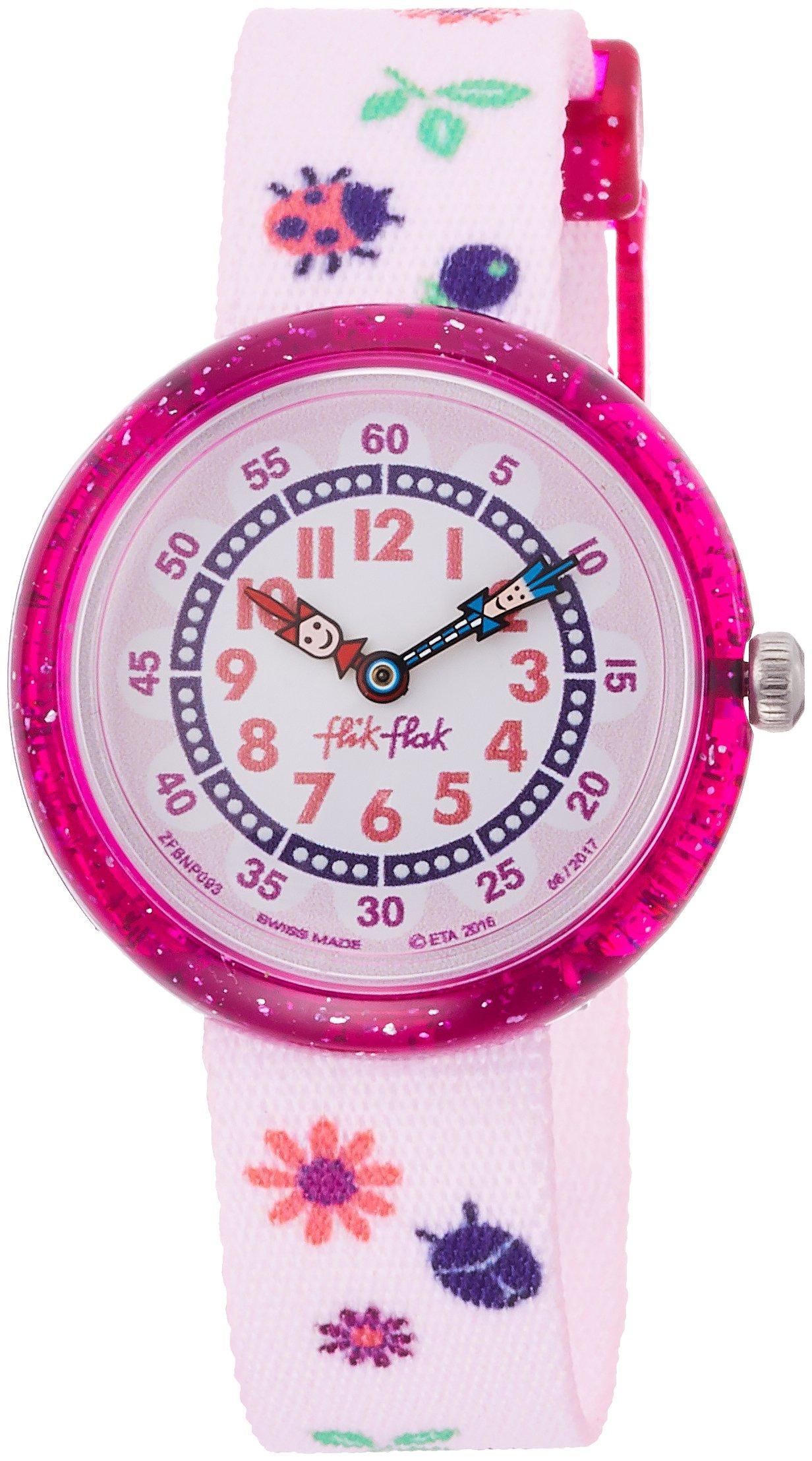 Flik Flak Kids' Quartz Nylon Strap, Pink, 14 Casual Watch (Model: ZFBNP093) by Flik Flak