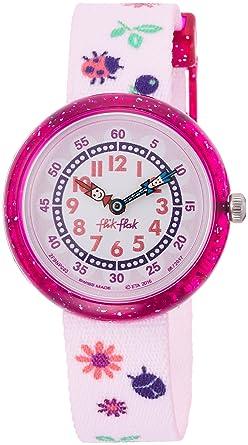 FlikFlak Reloj Analógico para Niñas de Cuarzo con Correa en Tela FBNP093: Amazon.es: Relojes