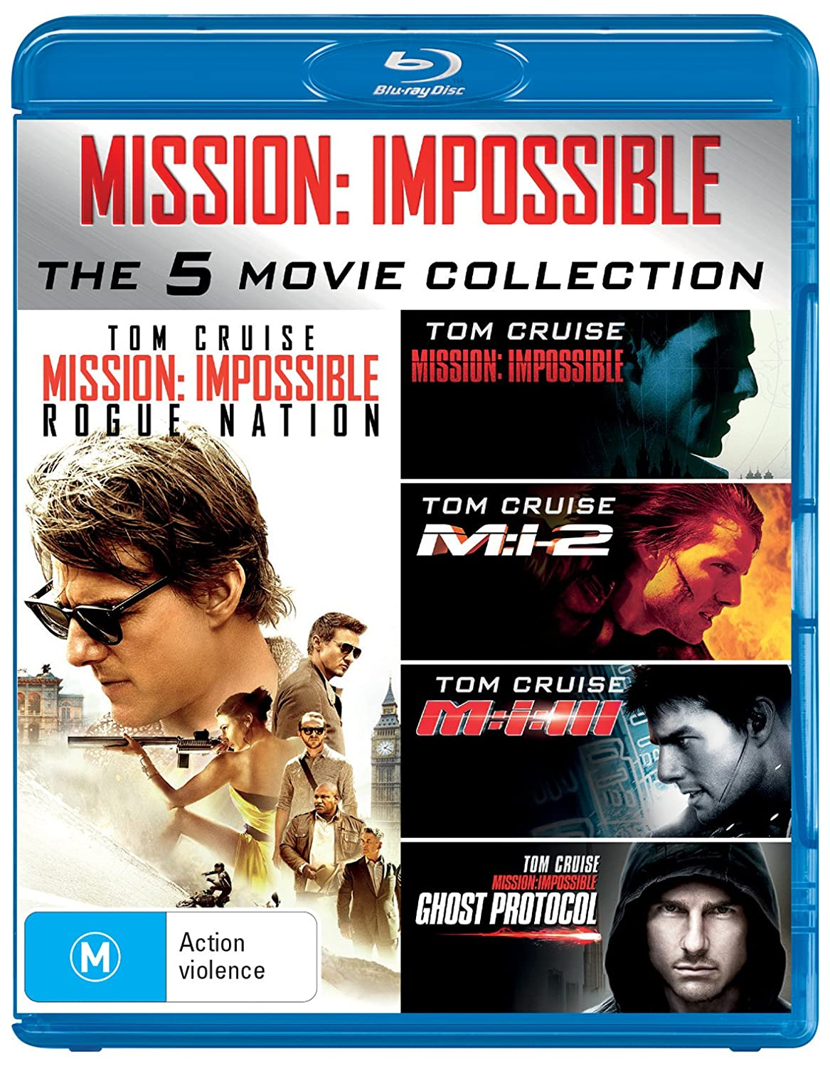 Mission: Impossible 5 Movie Pack 5 Blu-Ray Edizione: Australia Italia Blu-ray: Amazon.es: Cine y Series TV