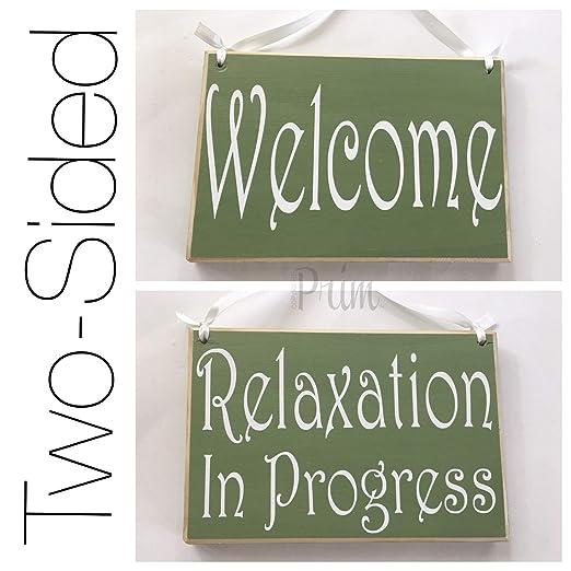 PotteLove 8 X 6 Relax de Progress Welcome sesión No Molestar ...