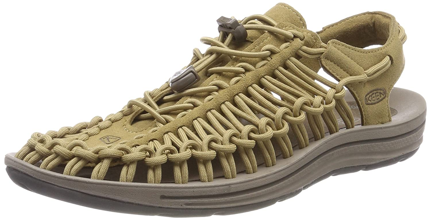 KEEN Men's Uneek Sandal B06ZZXG4KD 7.5 D(M) US|Antique Bronze/Canteen