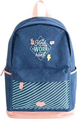 Mr. Wonderful Mochila Azul, Backpack - Be kind and work hard Unisex niños, Multicolor, Talla única: Amazon.es: Zapatos y complementos