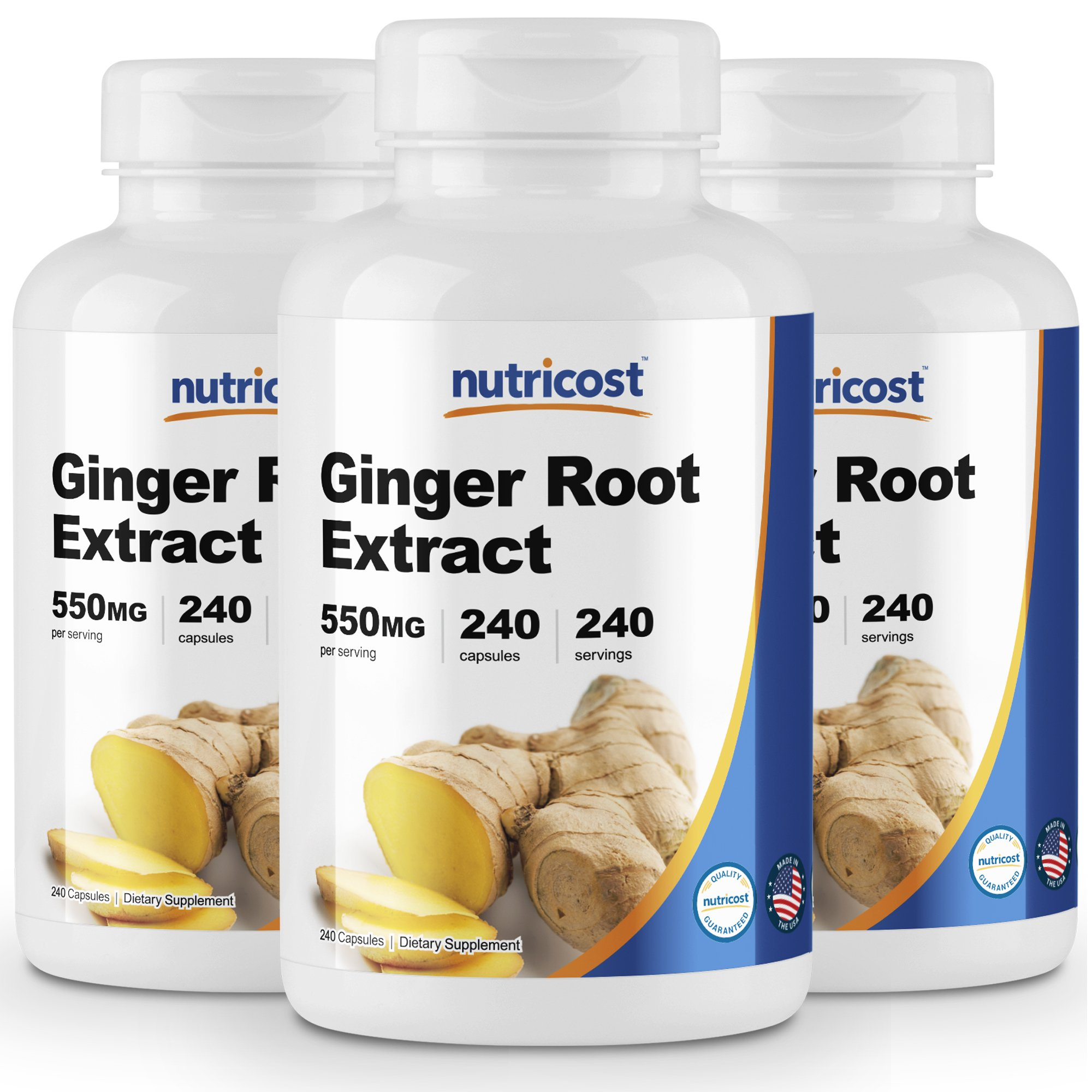 Nutricost Ginger Root Extract 550mg, 240 Capsules (3 Bottles)