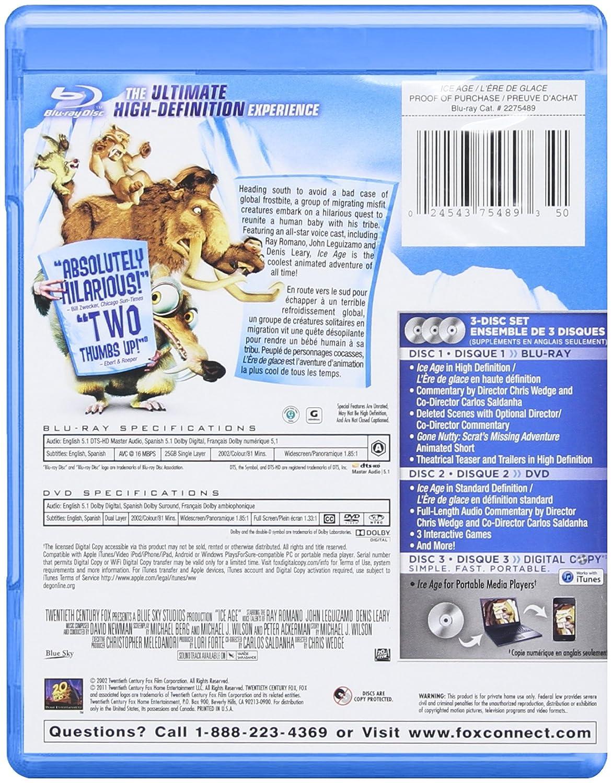 Ice Age 1-3 [Blu-ray] (Bilingual): Amazon.ca: Ray Romano: DVD