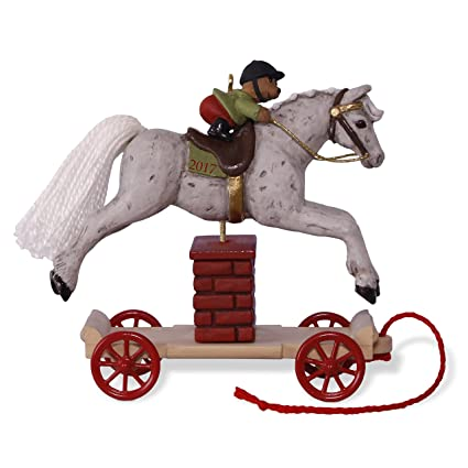 hallmark keepsake 2017 a pony for christmas jumping horse christmas ornament - Horse Christmas