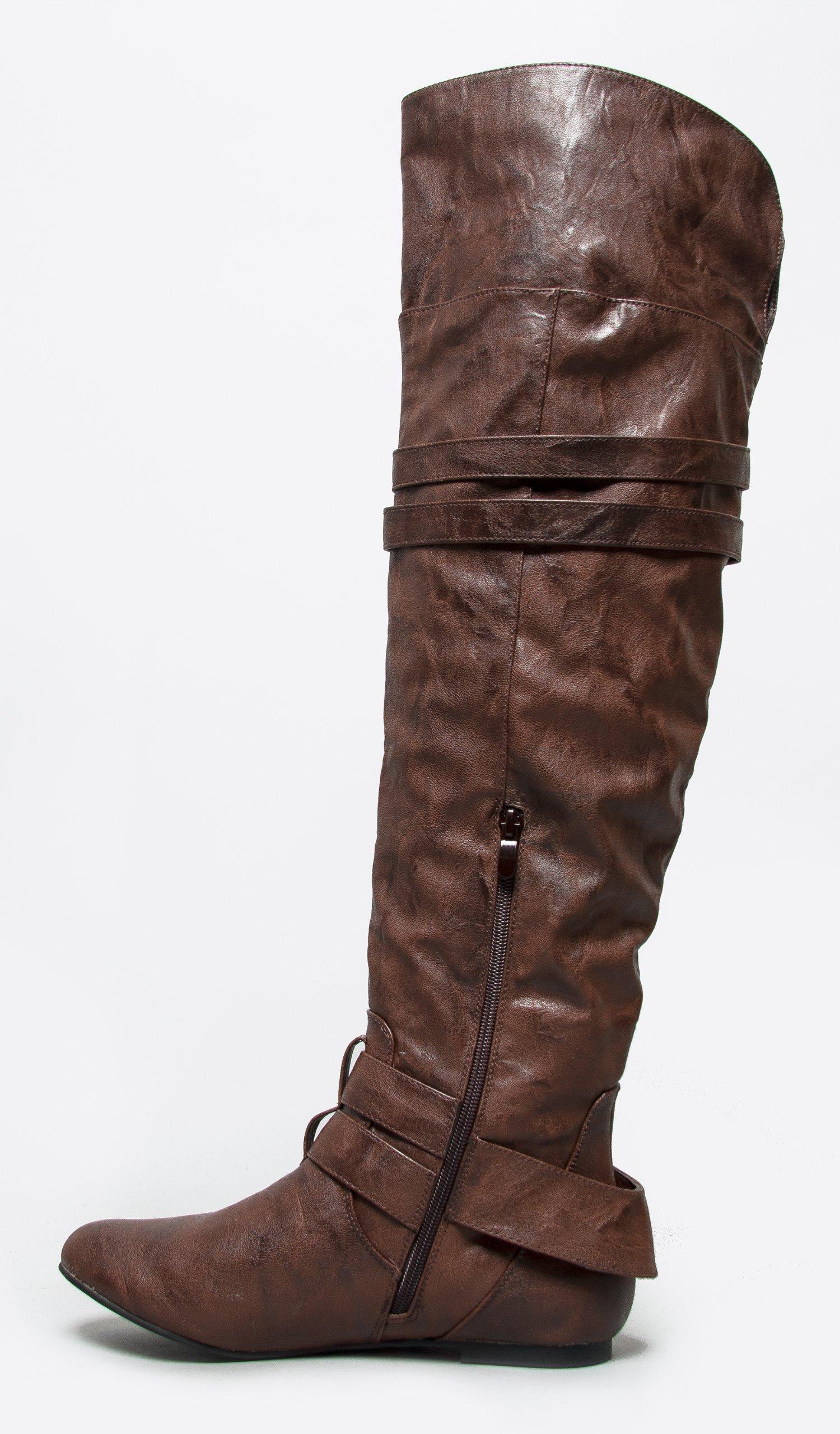 Adams Brandy Over The Knee Boot J Trendy Low Block Heel Suede Thigh High
