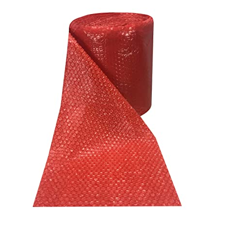 Material Handling 50 feet x 12 inches x 3/16 Small Bubbles RED Color Bubble Wrap Roll Bubblewrap Business & Industrial
